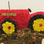 funeral flowers - tractor