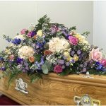 coffin with flowers in burton upon trent